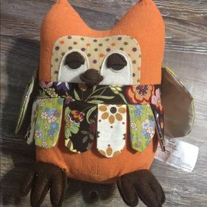 Orange Decorative Owl Plush.